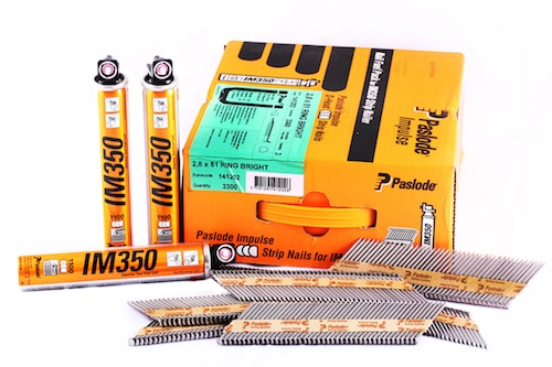 Paslode 51mm x 2.8mm Ring Shank Bright Nails Pack of 3300 for IM350 - Macroom Tool Hire and Sales