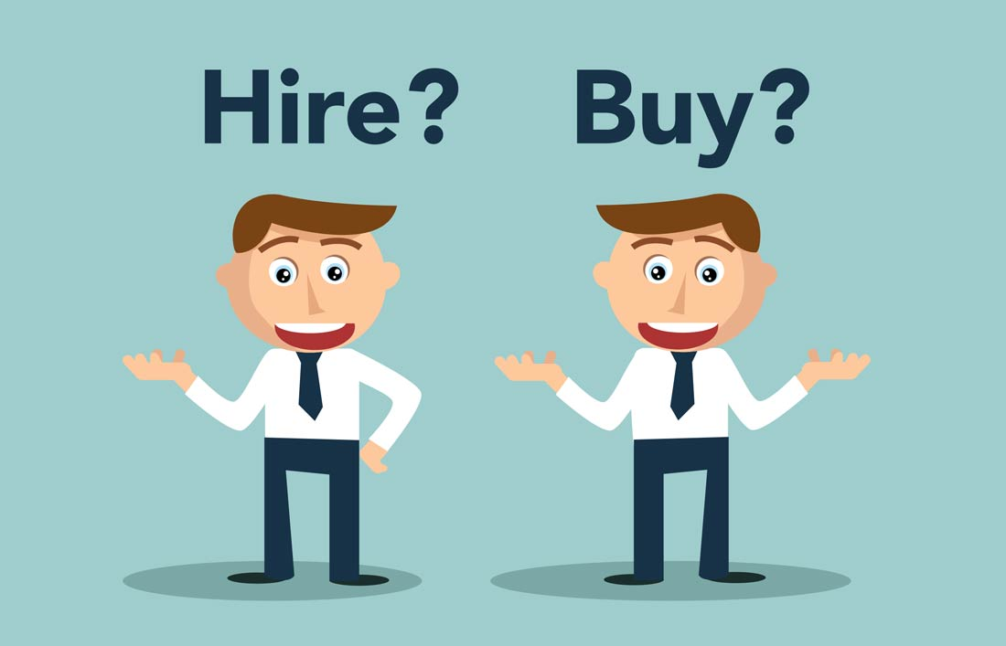 5 REASONS TO HIRE RATHER THAN BUY