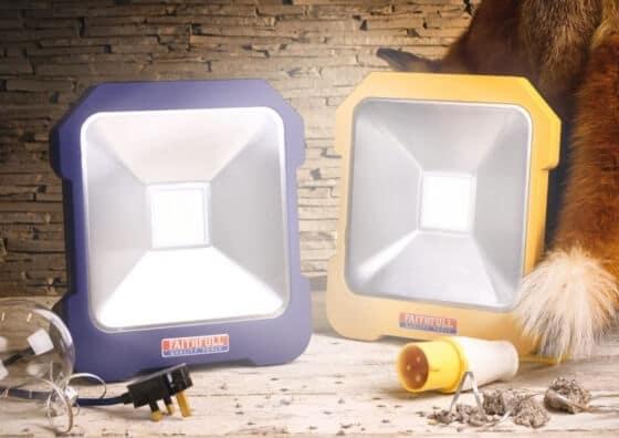 Faithfull LED Task Light 20watt 40 volt macroom tool hire and sales