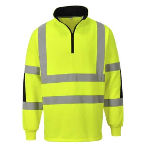 Portwest Xenon Hi-Vis Rugby Sweatshirt-B308-Yellow macroom tool hire and sales