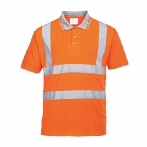 portwes hi visibility short sleeve polo shirt macroom tool hire and sales